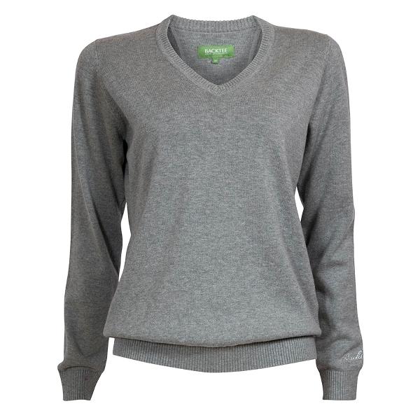 Ensfarvet Pullover, Grå