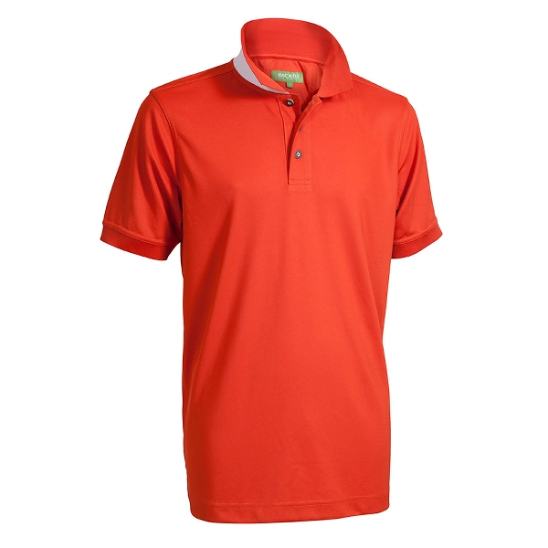 Performance Quick Dry Polo, Orange